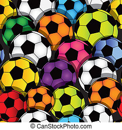fotboll, seamless, struktur