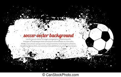 fotboll, smutsa ner, boll