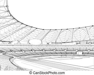 fotboll, stadion, fotboll
