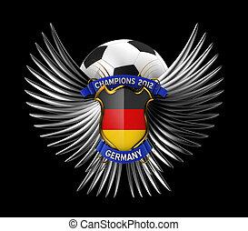 fotboll, tyskland, boll