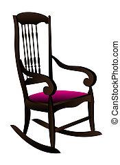 fotel bujany, wektor, ilustracja