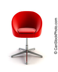 fotel, nowoczesny, 3d, przedstawienie