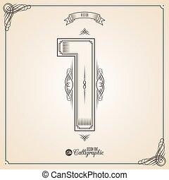 fotn, határ, keret, calligraphic, jelkép, alapismeretek, tervezés, meghívás