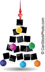 foto, árbol, navidad