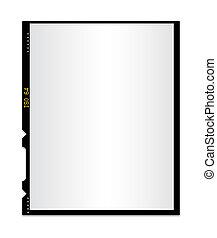 foto, 2, aislado, película, blanco