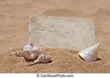 foto, antigas, praia