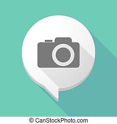 foto, balloon, longo, câmera, cômico, sombra
