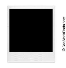 foto, blanco, instante, aislado