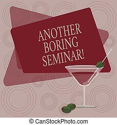 foto, brist, kant, en annan, konferens, affär, seminar., skrift, anteckna, intressera, text, fyllt, cocktail, visande, space., glas, ögonblick, oliv, tråkig, tråkig, showcasing, eller, vin
