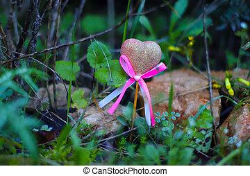 foto, cadere, cuore, natura, amore