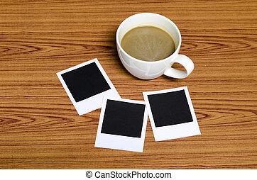 foto, caffè, cornice, tazza
