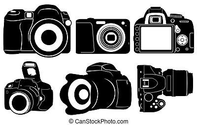 foto cameras - set of different cameras