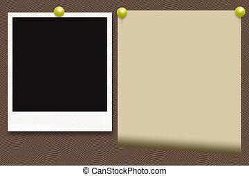 foto, carta, vecchio, scheda