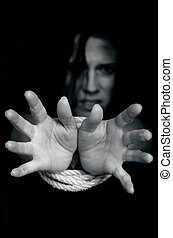 foto, concepto, -, tráfico, humano