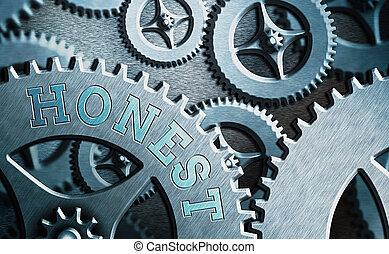 foto, conceptueel, bekwaam, waarheid, of, zijn, niet, honest., waarschijnlijk, steal., trusted, tekst, het tonen, meldingsbord, het vertellen