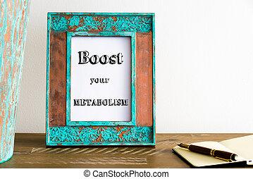 foto, de madera, vendimia, marco, su, texto, tabla, alza, metabolism