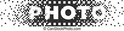 foto, digital, logo, analog, film, photographie, logotype