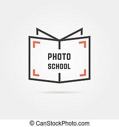 foto, escola, sombra, logotipo