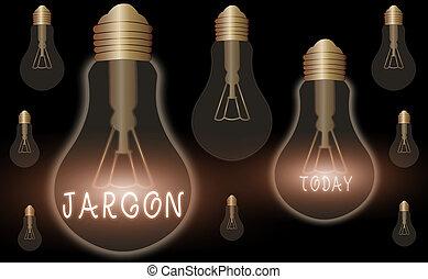 foto, expresiones, conceptual, o, empresa / negocio, palabras, utilizado, escritura, especial, jargon., particular, profession., mano, texto, actuación