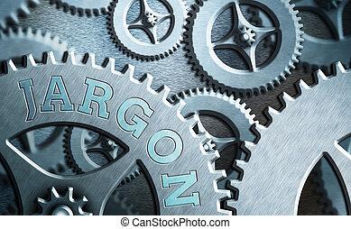 foto, expresiones, conceptual, o, palabras, especial, jargon., particular, profession., actuación, texto, utilizado, señal