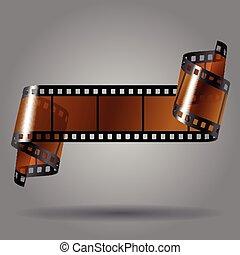 foto, faixa película