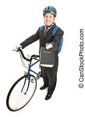 foto, fiets, missionaris, religieus, liggen