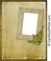 foto, folhas, convites, outono, estrutura, ou