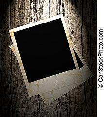 foto, glijbaan, hout, achtergrond