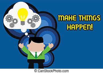 foto, hard, informatietechnologie, meldingsbord, samen., hebben, staand, werkende , spullen, maken, kostuum, conceptueel, u, bel, bereiken, het tonen, handen, bol, denkbeeldig, man, licht, op, order, testament, tekst, toestellen, inspanning, happen.