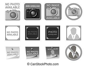 foto, icone, mancante