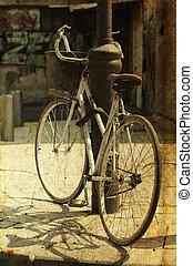 foto, immagine, vecchio, style., bicycle.