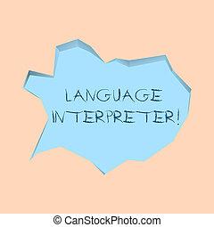 foto, interpreter., befordra, ljusblå, anteckna, olik, snitt, två, skrift, språk, anförande, mellan, bubbla, 3, bakgrund., affär, visande, stil, irreguljär, språk, meddelanden, showcasing