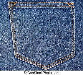 foto, jeans, tasca posteriore, parte, casato