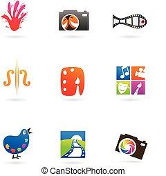 foto, kunst, iconen