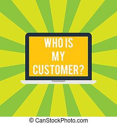 foto, laptop computer, willen, jouw, customer., informatie, wat, monitor, tablet, persoonlijk, schrijvende , tekst, conceptueel, scherm, zakelijk, krijgen, het tonen, space., hand, weten, zij, klanten, showcasing, mijn