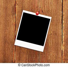 foto, lege, drukken, pushpin, rood