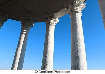 foto, macro, colonne, corinzio