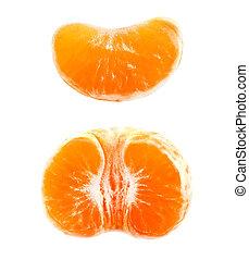 foto, mandarina, delicioso, macro