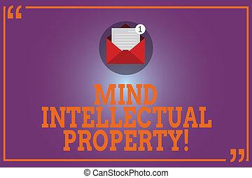 foto, mente, intellettuale, carta, messaggio, aperto, scrittura, creazioni, testo, concettuale, email, property., affari, esposizione, busta, mano, tale, refers, quotazione, dentro, invenzione, mark.