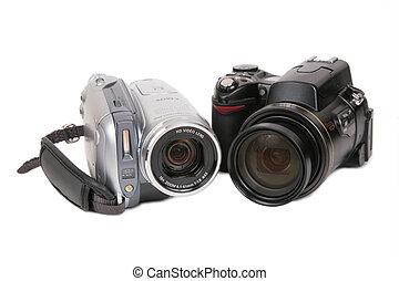 foto, moderno, cameras, hdv