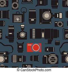 foto, modernos, seamless, technics, fundo, retro