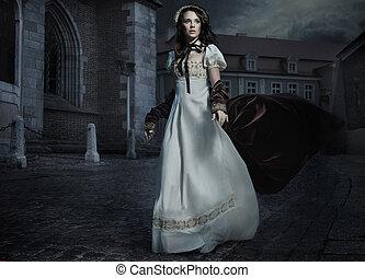 foto, morena, fashioned velho, beleza