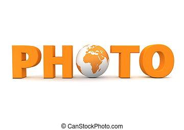 foto, mundo, naranja