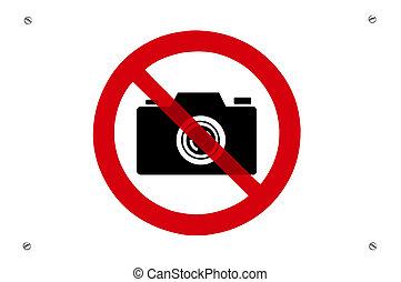 foto, não, proibição, sinal