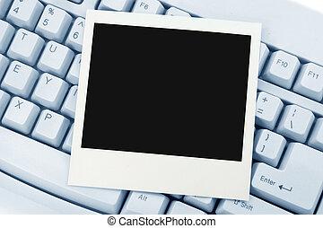 foto, och, tangentbord
