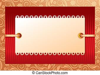 foto, of, kader, uitnodigingen