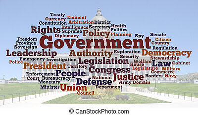 foto, palavra, nuvem, governo