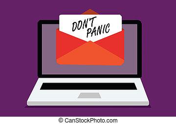 foto, papel, medo, virtual., computador, escrita, texto, conceitual, recebendo, email, panic., negócio, mostrando, envelope, mão, importante, não, forte, dom, impede, mensagem, pensamento, repentino, t, razoável, sentimento