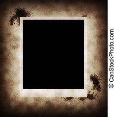 foto, papel, viejo, plano de fondo, tinta