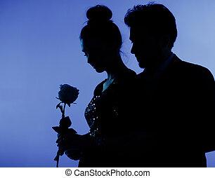 foto, pareja, amor, multa